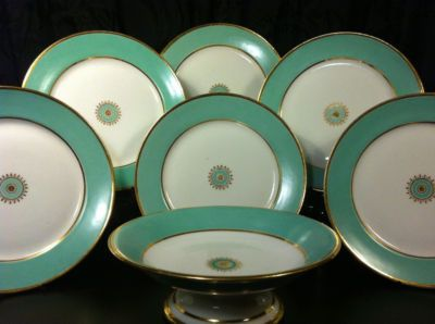 aqua antique plates ...They are gorgeous