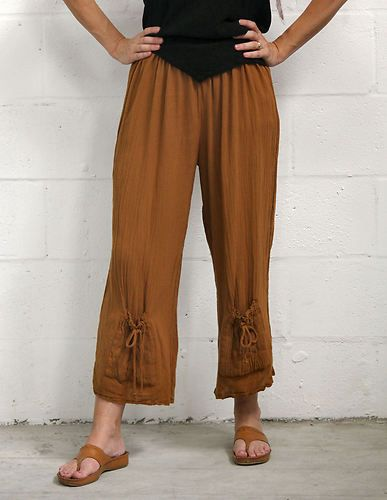 02215fd6eb0 Oh My Gauze Cotton Cute Sammy Crop Pants 1 s M 2 M L XL 3 XL 1x 2X Amber
