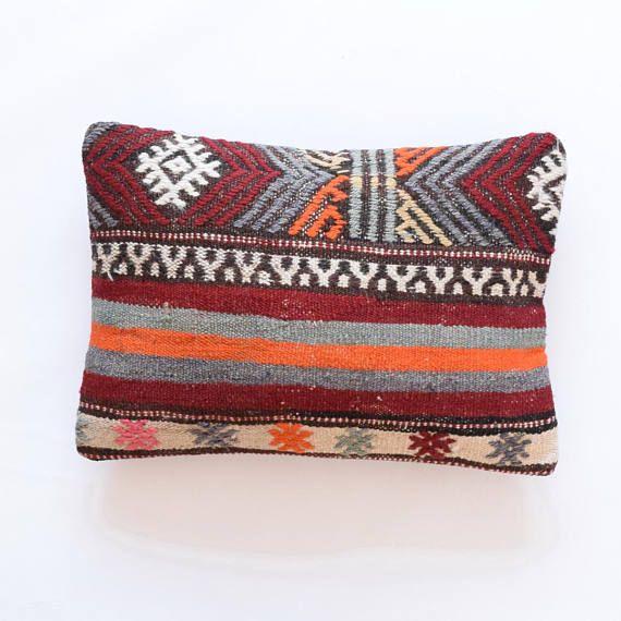 Pillow handmade turkish pillow 14x20 decorative pillow asian pillow ...