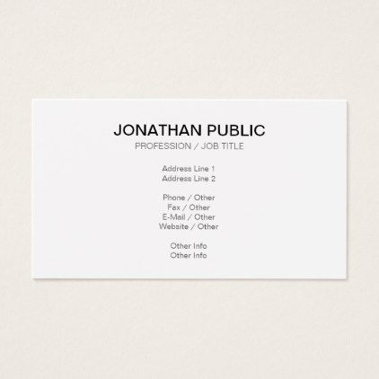 Create your own classy plain modern sleek design business card colourmoves