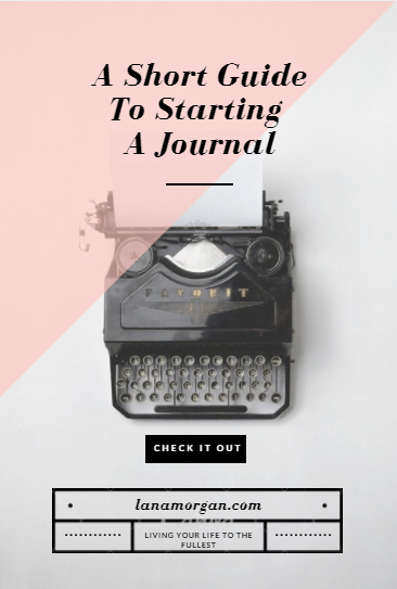Welcome the almighty journal into your life.  Warning: you won't regret it!