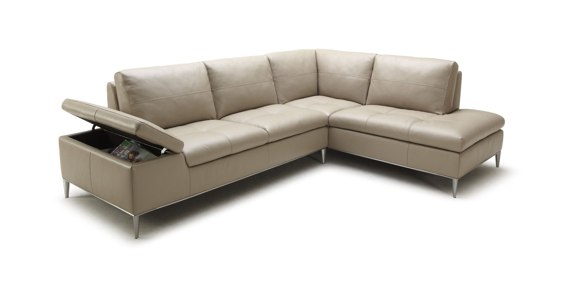 Divani Casa Gardenia Modern Sectional sofa with Chaise This