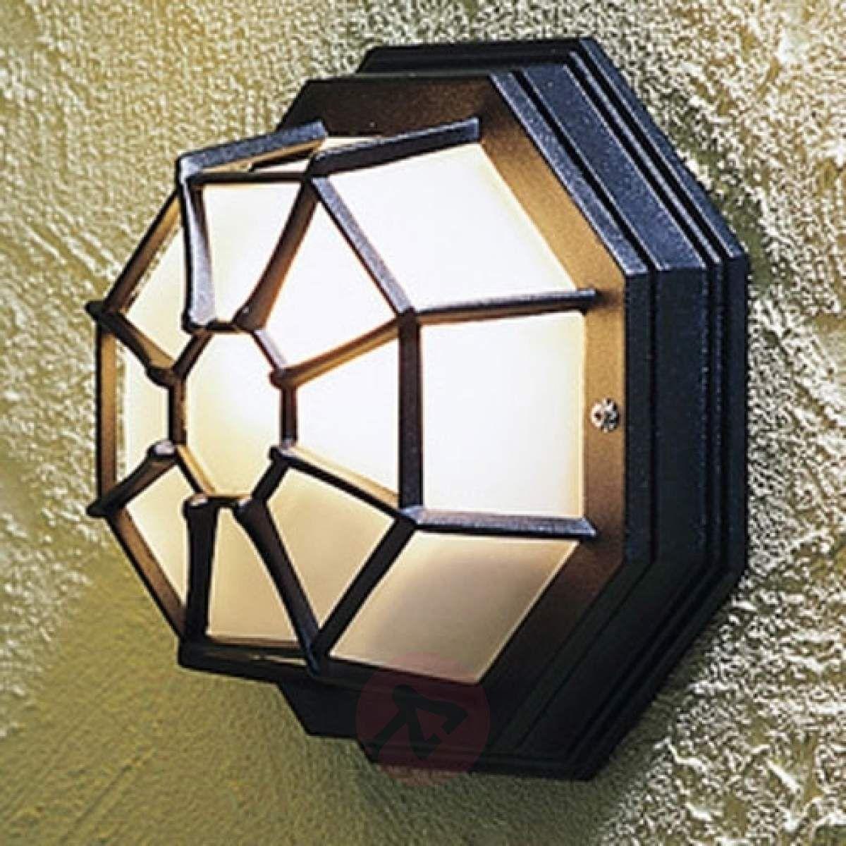 Zewnętrzna Lampa ścienna Wall Roof Czarna Lampy Wiszące
