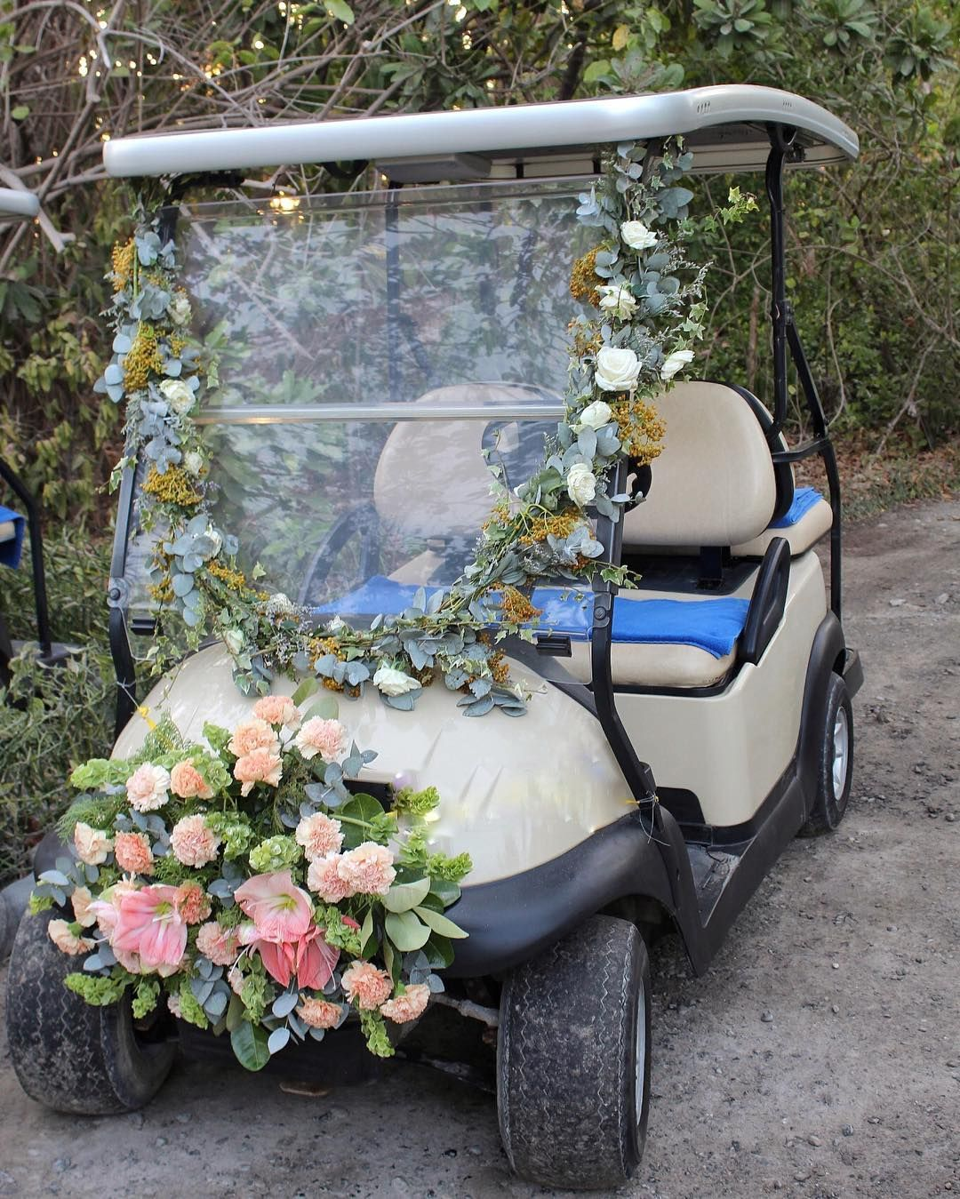 Golf Buggy For The Bride @gideonhermosa #Gideonized