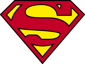 """SUPERMAN ART //BANNER  PERSONALIZED WITH YOUR NAME 30/""""X8.5/"""""""