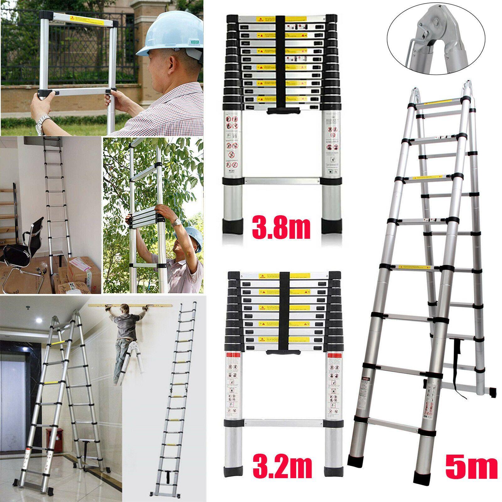 En131 10 5ft 12 5ft 16 5ft Telescopic Extension Aluminum Step Ladder Folding Usa Ladder Decor Ladderdecor In 2020 Ladder Decor Ladder Decor