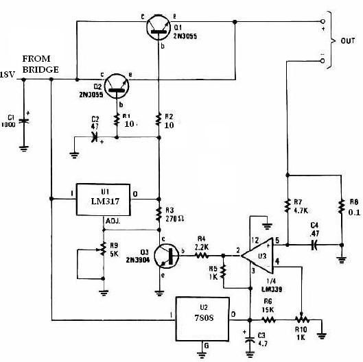 lm317 universal battery charger circuit