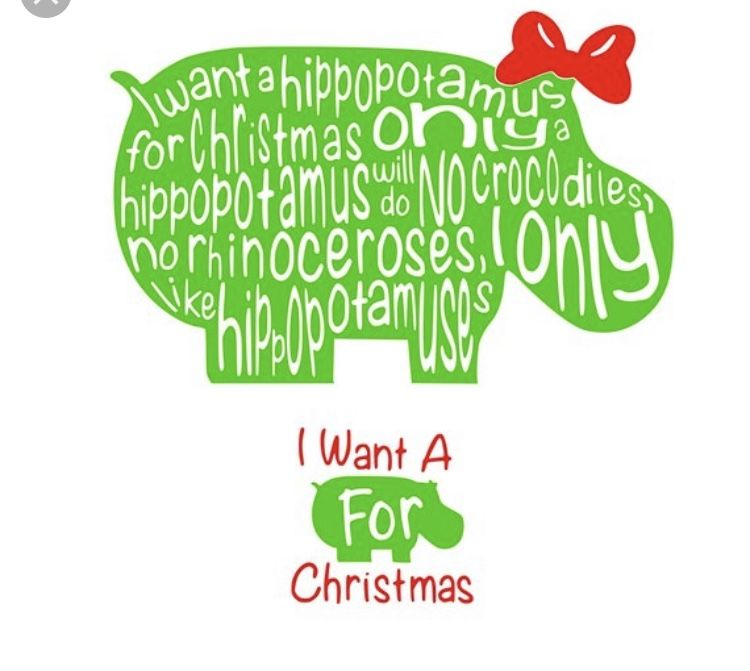 Pin By Amy Caldwell On Silhouette Crafts Hippopotamus For Christmas Christmas Vinyl Christmas Svg