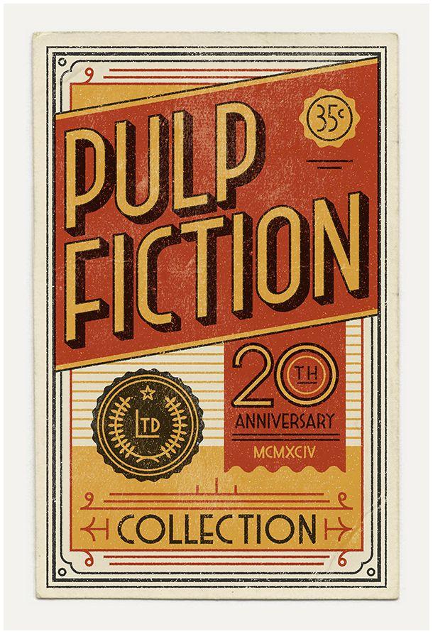 Pulp Fiction oslavuje dvadsiatku na štýlových retro plagátoch - http://detepe.sk/pulp-fiction-oslavuje-dvadsiatku-na-stylovych-retro-plagatoch/