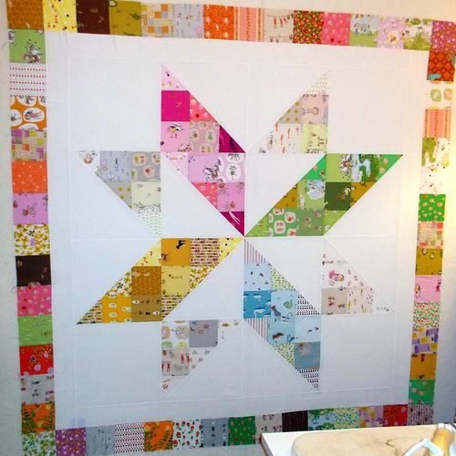 Heather Ross Charm Square Quilt with MBS pattern BOHO Patchwork Vintage Star