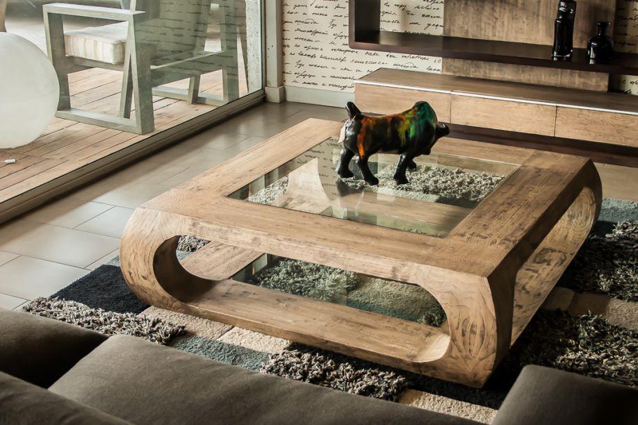 Mesa de centro madera modelo gaudi salon en 2019 for Mesas de centro de madera para sala
