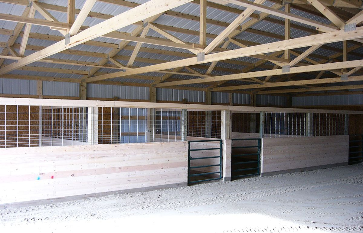 By adding horse stalls you have the ability to shelter for Horse barn building