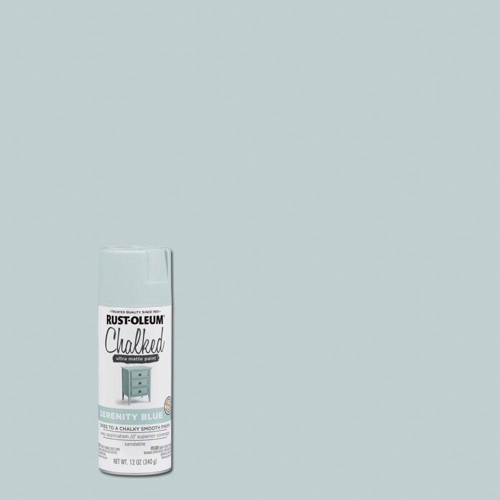 Rust-Oleum 12 oz  Chalked Serenity Blue Ultra Matte Spray