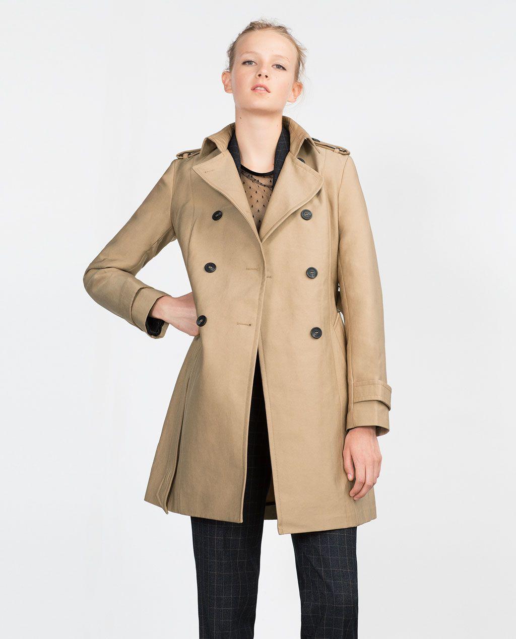 Manteau gabardine femme