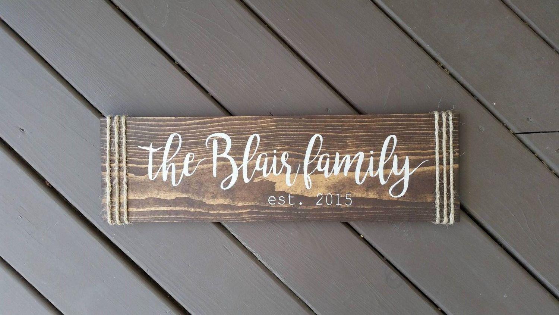 Wood Signs Home Decor Prepossessing Last Name Family Wood Sign Stained Wood Sign Wood Signs Signs Decorating Design