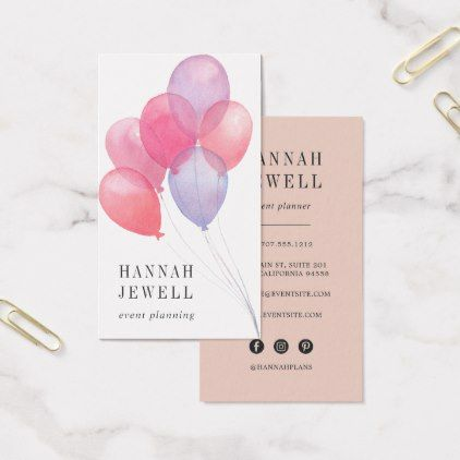 Balloons Event Planner Business Card