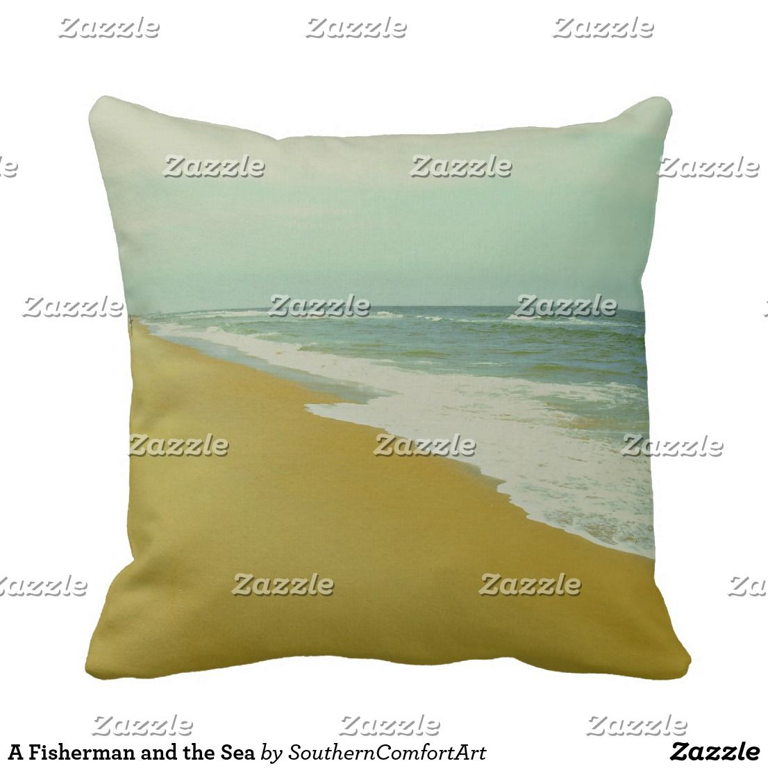 A fisherman and the sea throw pillow nature art pillows pinterest