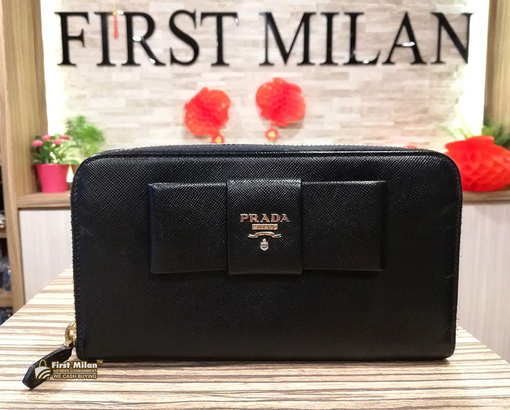 67b8c66f169d PRADA Saffiano Bow Zip Around Wallet. Price RM880 | PRADA in 2019 ...