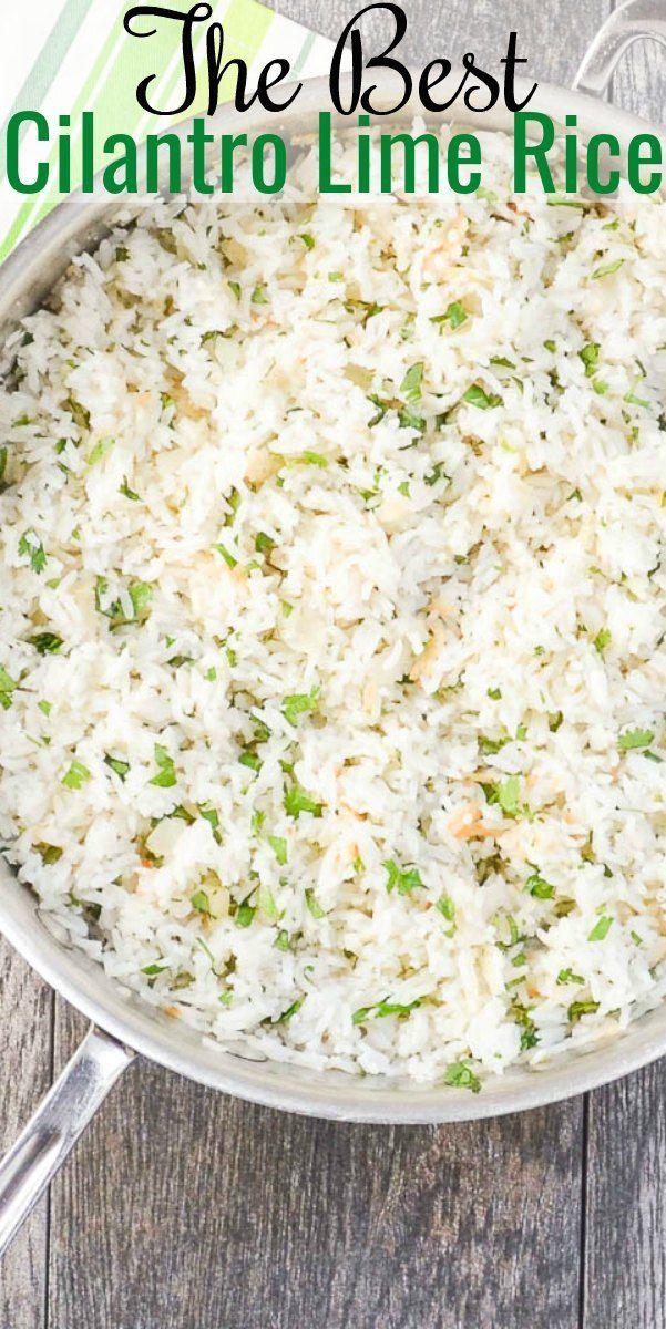 Cilantro Lime Rice #tacosidedishes