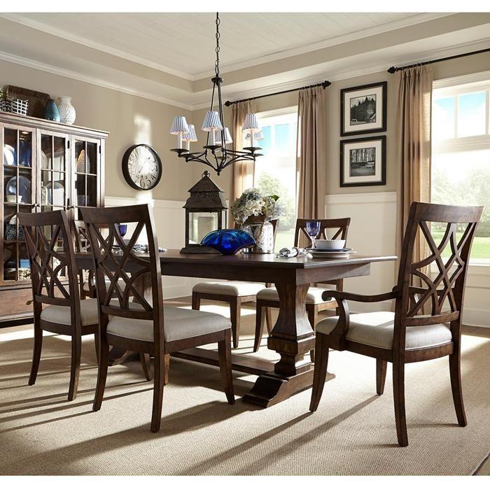 7 Piece Trisha Yearwood Dining Set In Brown