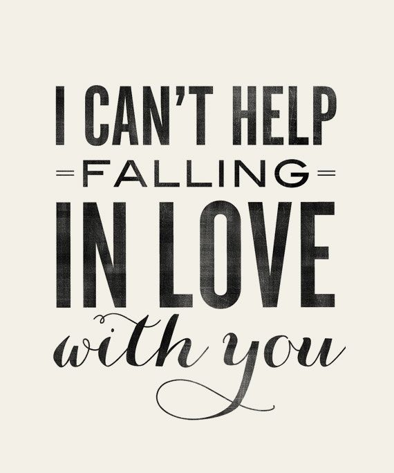 I Can't Help Falling in Love with You Elvis 8x10 by AugustPark #aviationquoteslove