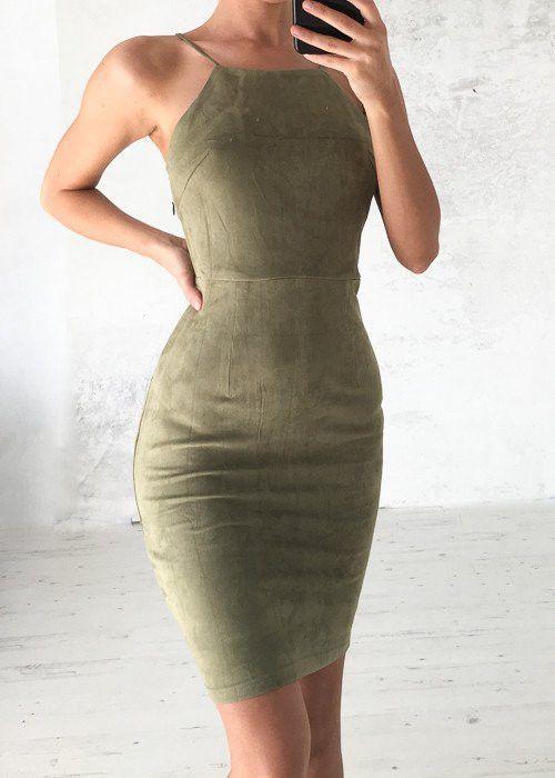12cef05158 Bare Shoulder Spaghetti Strap Lace Up Back Short Bodycon Dress ...