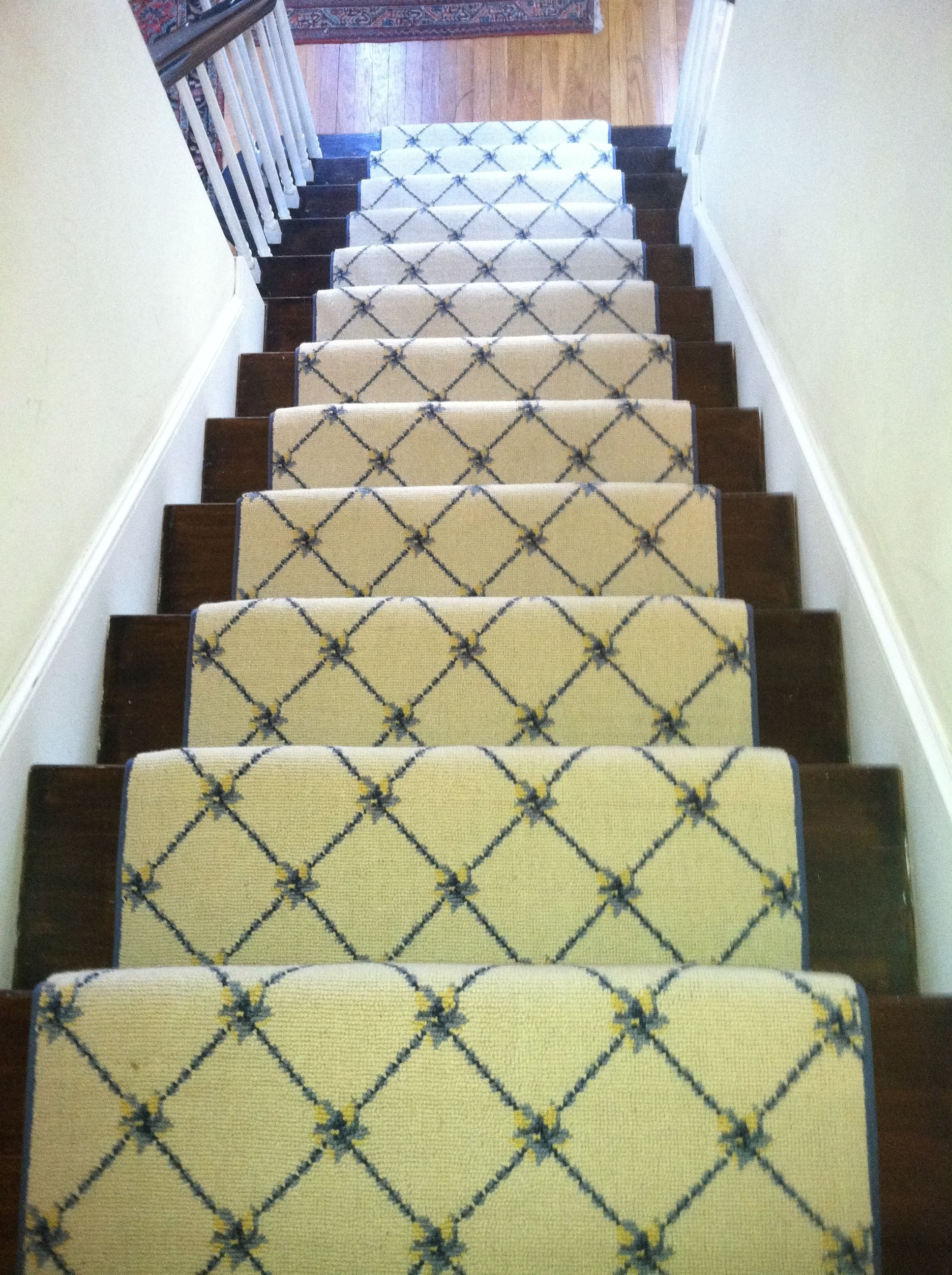This Woven Wool Carpet Remnant Was Fabricated And Installed As A Stair  Runner By The Carpet Workroom. Www.thecarpetworkroom.com