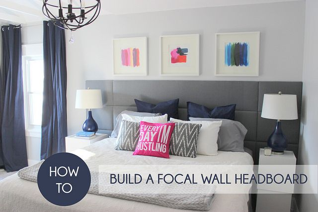 How to build a focal wall headboard by Home Coming, via Flickr