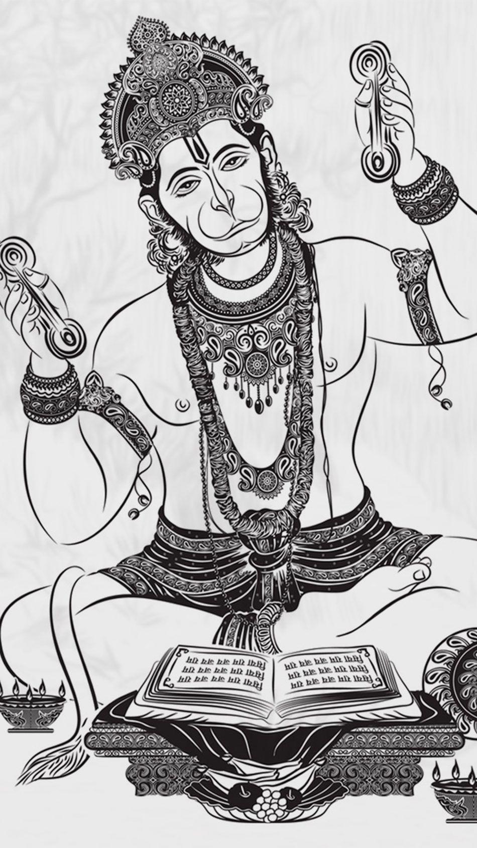 Lord Hanuman Art 4k Ultra Hd Mobile Wallpaper Mandala Design Art Mandala Art Lesson Hanuman