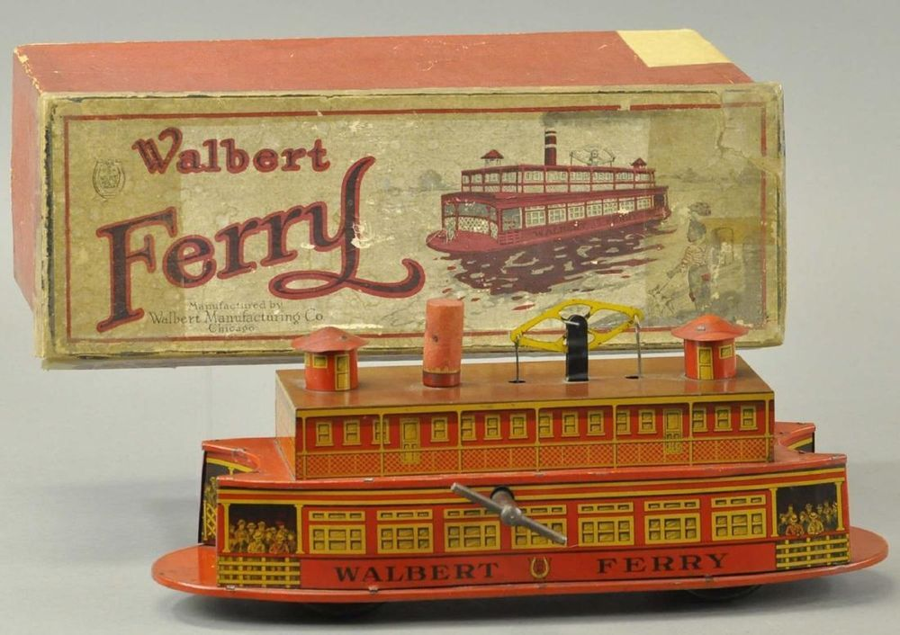 Details about Walbert Ferry Boat Vinatge Wind Up Toy RARE
