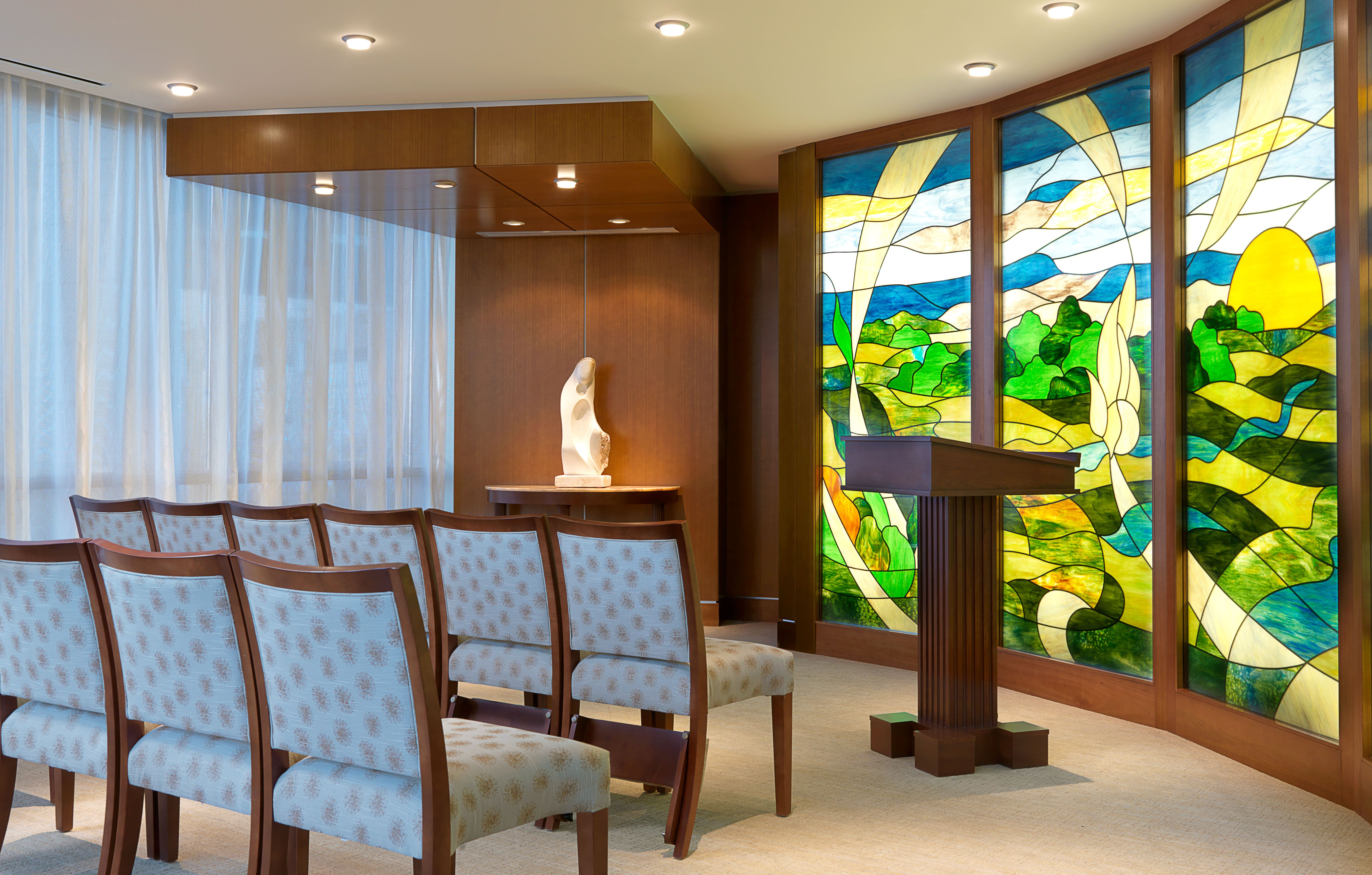 Silver cross hospital chapel healthcare design - How long is interior design school ...
