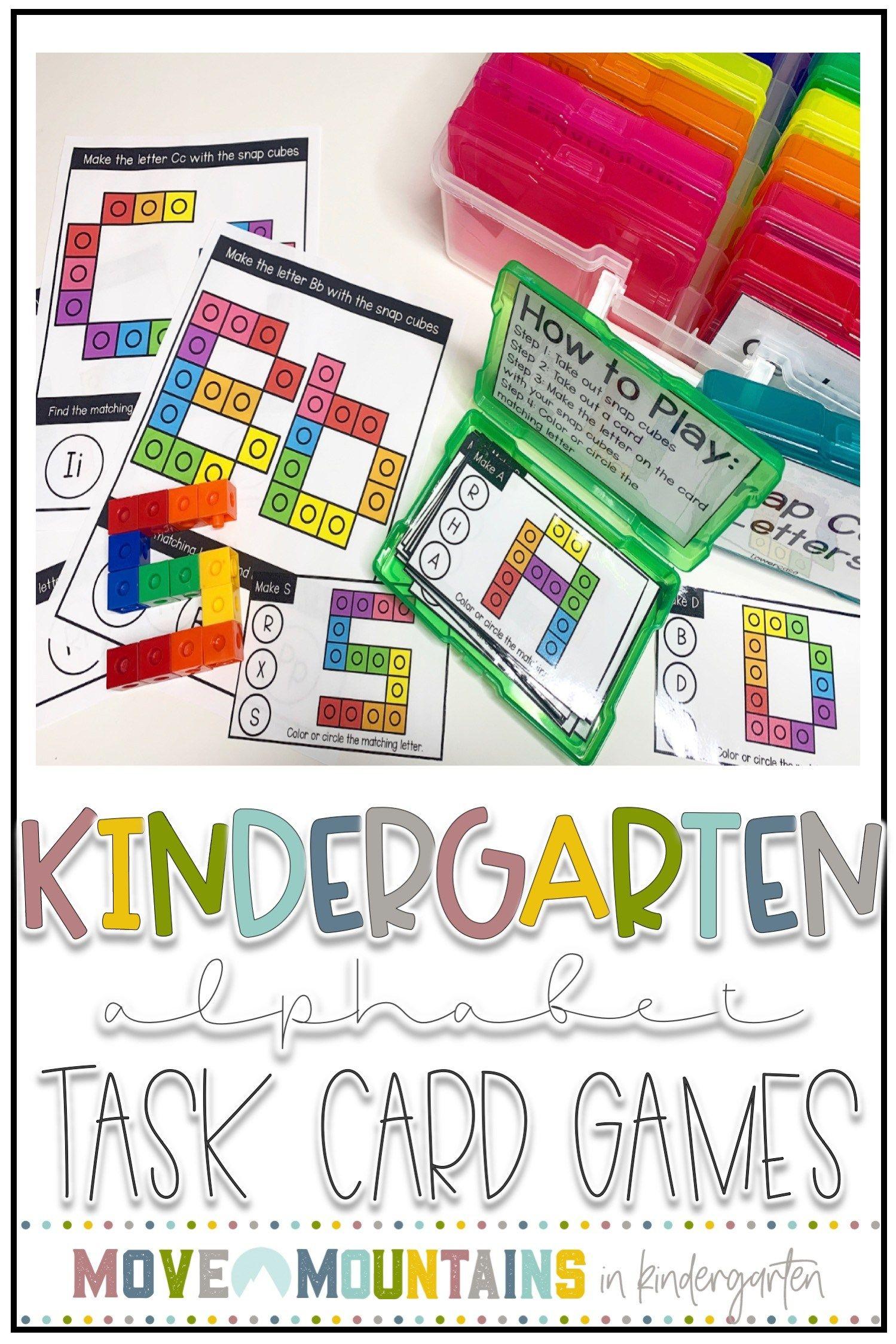 Alphabet Worksheets And Task Cards