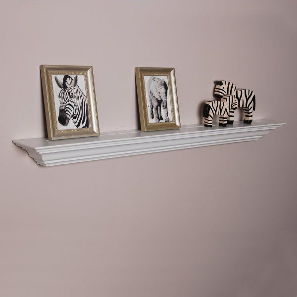 Welland Corona Crown Molding Wall Shelf, 60-Inch, White