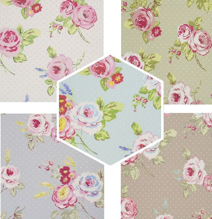 Clarke U0026 Clarke English Rose Sage Green Cotton Designer Curtain Fabric  Material