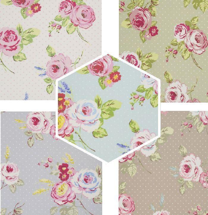 Clarke & Clarke English Rose Sage Green Cotton Designer