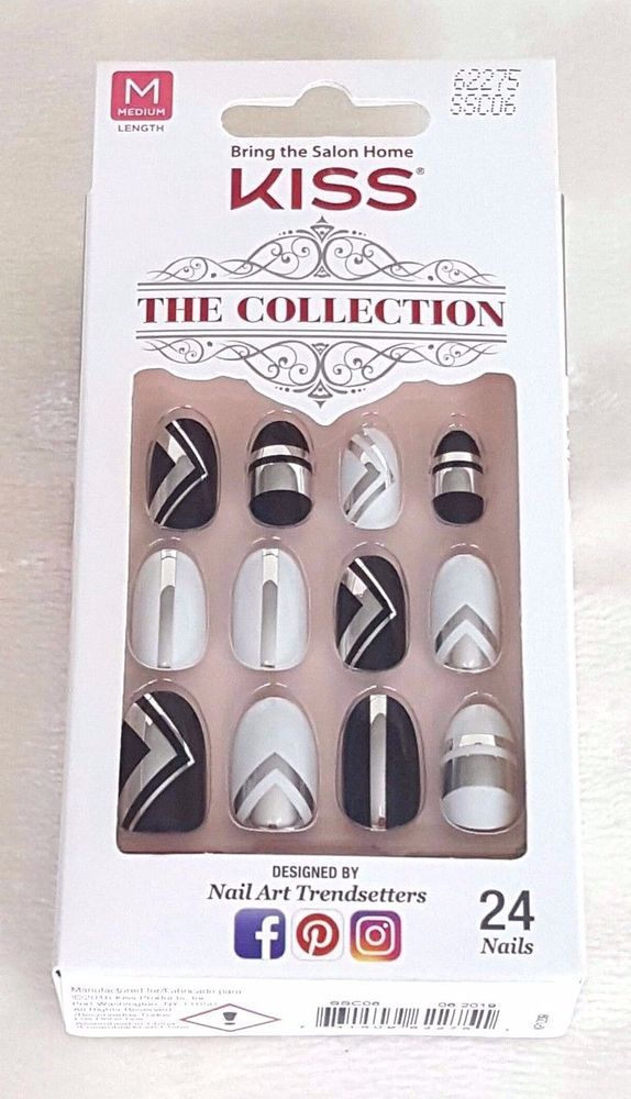 KISS 24 Glue/Press-On Nail The Collection MEDIUM #62275 | Salon ...