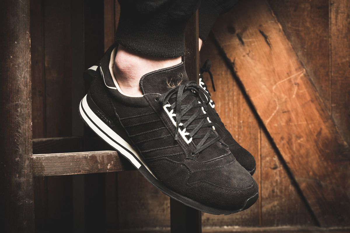 """967fe14e3 adidas ZX 500 OG """"Hirsch†(Made in Germany) Black Pack"""