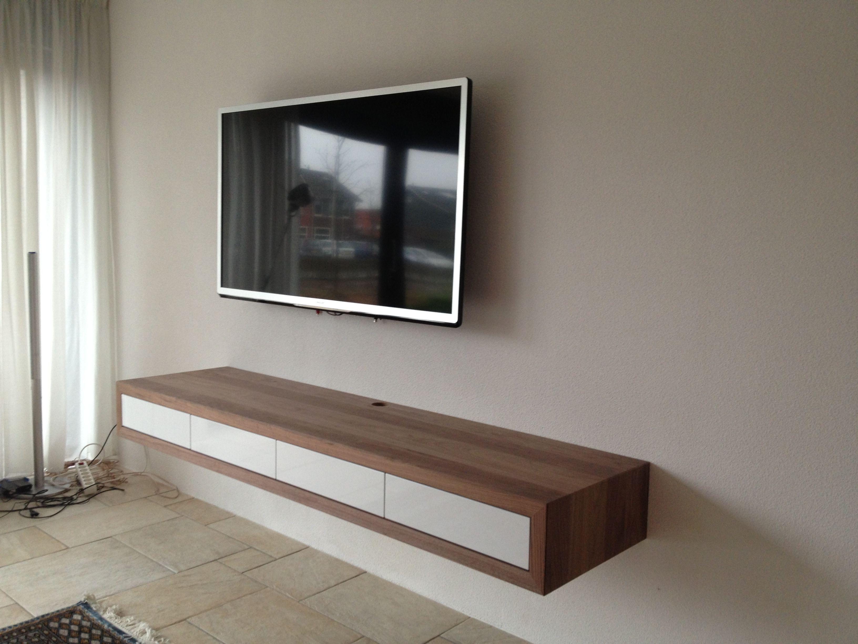 Wandmeubel zwevend ~ Zwevend tv meubel op maat gemaakt tvkast tv furniture