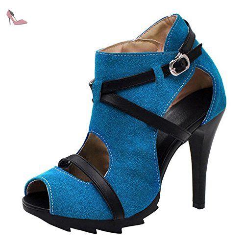 Femmes Ankle Coolcept Mode Aiguille Talon Toe Peep Sandales Wrap PEqEd