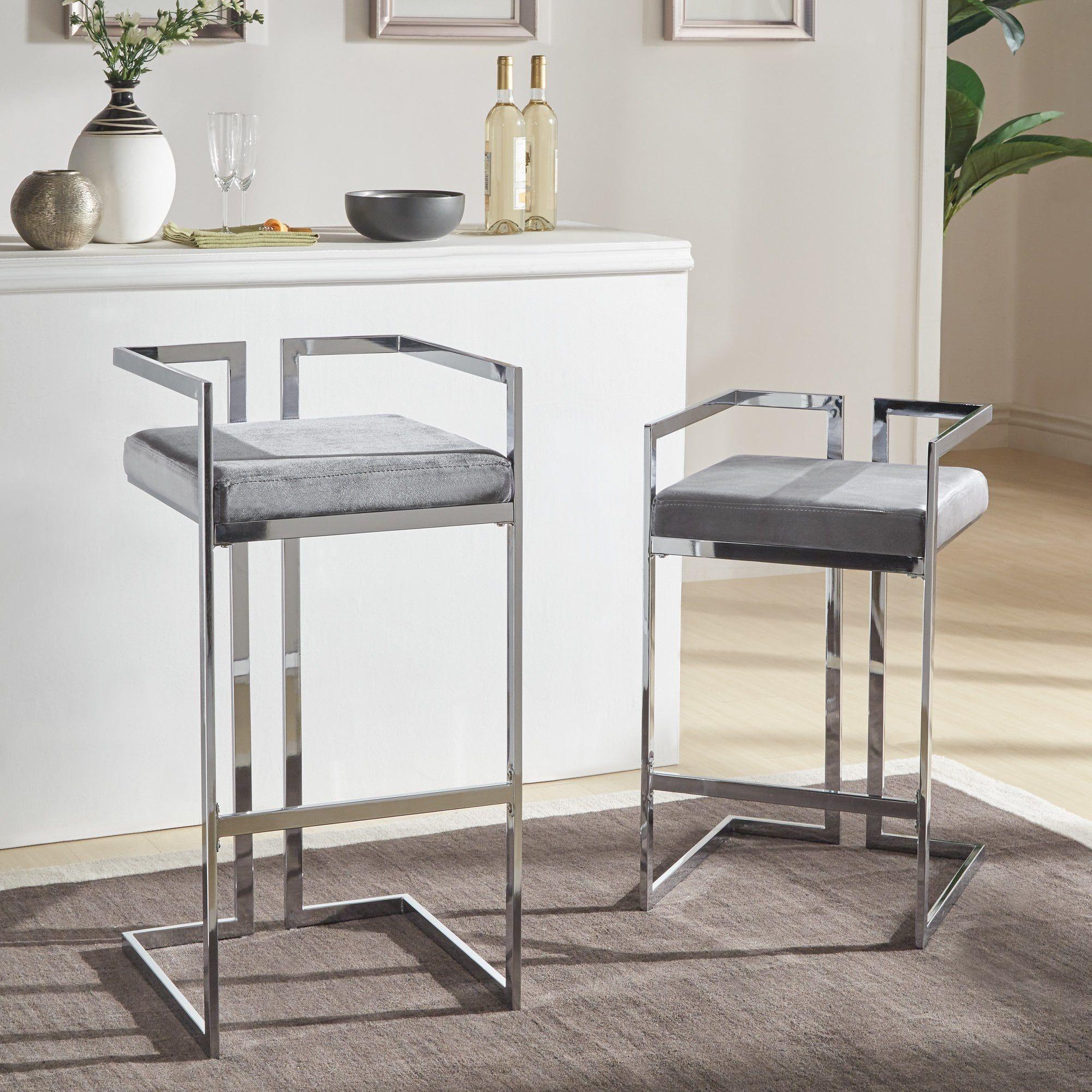 10 Comfort Chrome Cushioned Bar Stool In Room Design Ideas ...