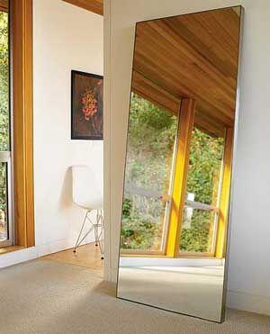 HOVET Mirror, aluminum | Window, Walls and Bedrooms