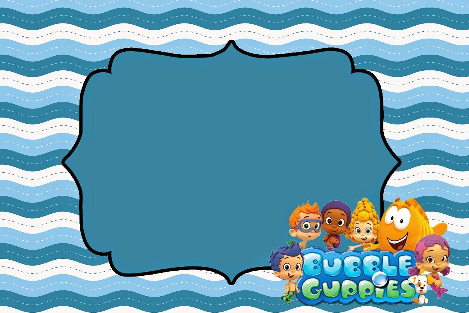 Bubble Guppies: Invitaciones para Imprimir Gratis. | happy birthday ...