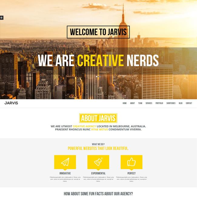 Jarvis Onepage Parallax WordPress Theme   WordPress Theme Download ...