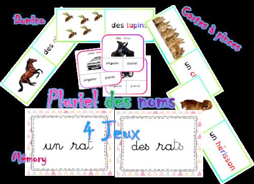 jeu sur le pluriel des noms cycle 2 ou 3 pinterest pluriel des noms le pluriel et grammaire. Black Bedroom Furniture Sets. Home Design Ideas
