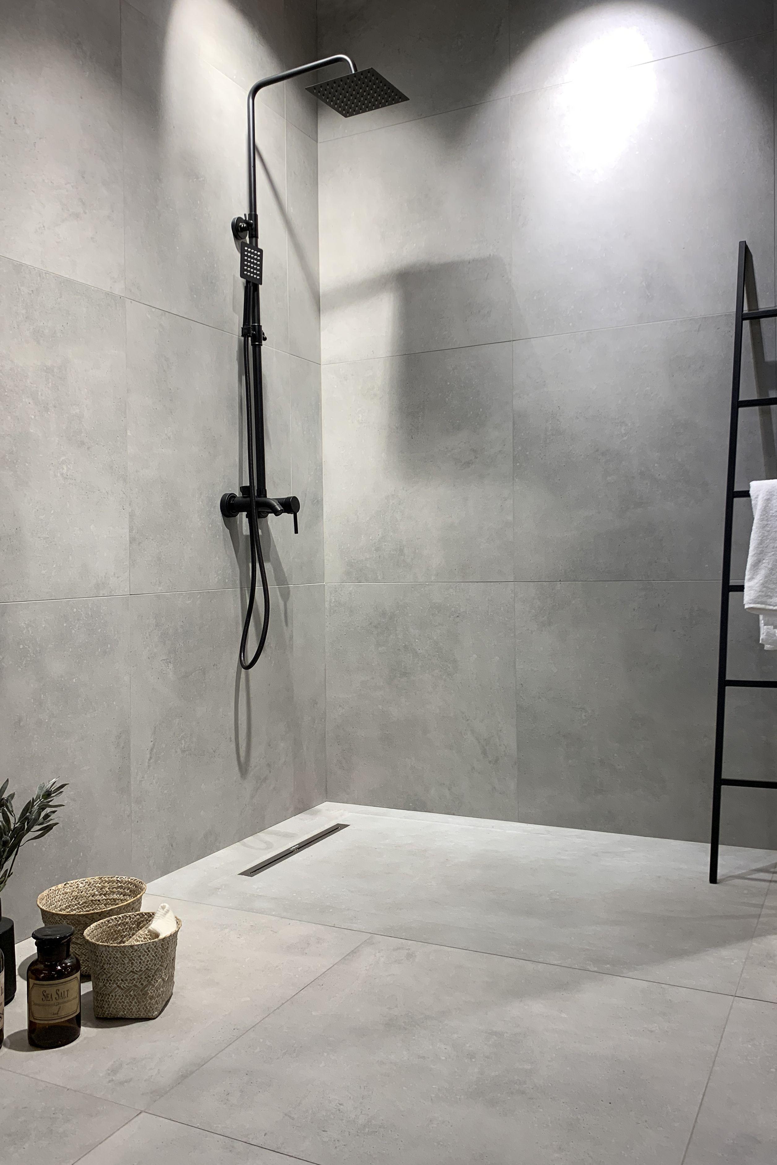 Tilestone Concrete Grey Vloer Impermo Tegels Natuursteen Parket Badkamer Inrichting Badkamer Douchetegel
