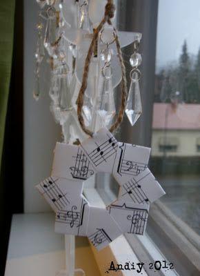 Andiy - Litensmå: Origami joulukoristeita