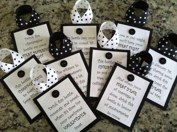 personalized wine poem tags bridal showerwedding