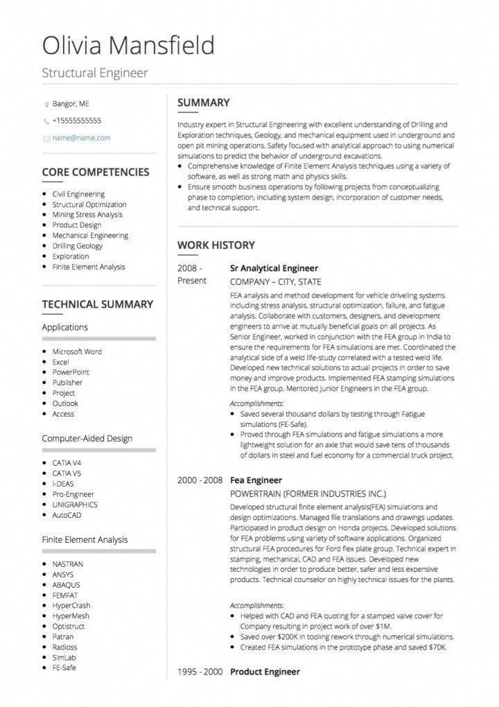 Civil Engineer Cv Example 3dmanufacturing Civil Engineer Resume Engineering Resume Engineering Resume Templates