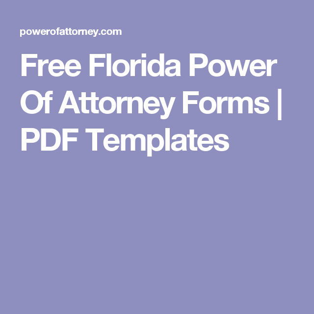 Free Florida Power Of Attorney Forms Pdf Templates College Ready