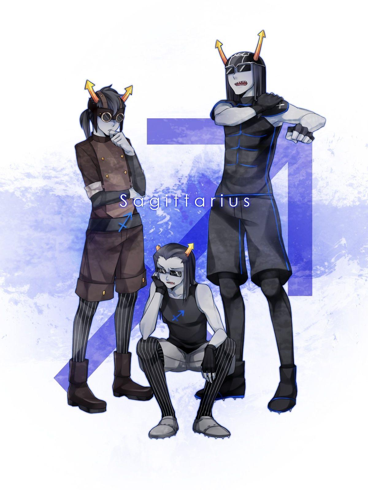 Sagittarius- From left to right: Horuss Zahhak, Equius Zahhak and E on